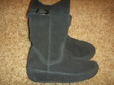 FitFlop Suede Hooper Boot Tall Night Blue Womens Size 6