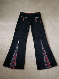 Hot Topic Tripp NYC Pants Black Plaid Vintage Size 5