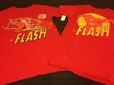The Flash T-Shirt Lot (2) New Men's Small DC Comics Red 100% Cotton