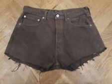 Levi's Levis Womens Brown Denim Distressed 501 Shorts W32