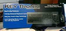 KeyTronic PS/2 104-Keyboard E06101P2NP optical 2 button mouse bundle -LOT OF 2-