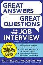 Great Answers, Great Questions For Your Job Interview, 2nd Edition, Betrus, Mich