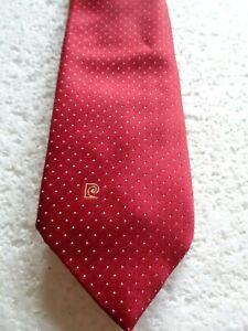 Superb vintage Red polka dot Pierre Cardin Paris tie