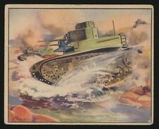 1939 R165 Gum Inc. WAR NEWS PICTURES #57 French Tank In Action