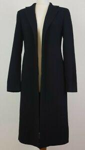 Episode Ladies Vintage Black Wool Coat UK 8