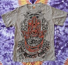 Babu T-Shirt Men Goa Party Buddha Psy Openmind Hand Eye Respect OM Grau Gr. XL