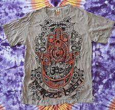Babu T-shirt men Goa Party Buddha Psy OpenMind mano Eye respect OM GRIGIO TAGLIA XL