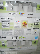 NEW ~ Feit Electric LED Soft White 60 Watt Replacement  DIMMABLE  Bulb 2700K