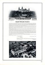Hotel Fürstenhof Bad Wildungen XL Reklame 1929 Badehaus Besitz. Goecke Werbung +