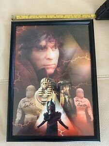 Dr WHO AND THE DALEKS PYRAMIDS OF MARS -  RARE - SIGNED TWICE BY TOM BAKER