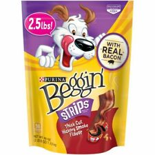 Purina Beggin' Strips Real Meat Dog Treats Thick Cut Hickory Smoke Flavor 40oz