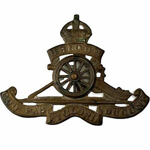 WW2 Royal Artillery Regiment MOVING / ROTATING WHEEL VERSION Cap Badge - RF95