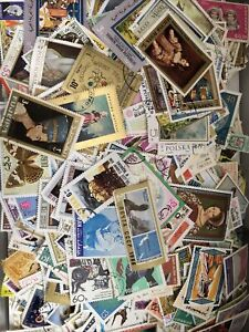 Worldwide Large Format Stamp Lot of 100 Pictorial Stamps Kiloware | MNH-Used