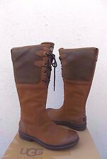 UGG ELSA CHESTNUT TALL WATERPROOF LEATHER DUCK/ SNOW BOOTS, US 8/ EUR 39  ~NEW