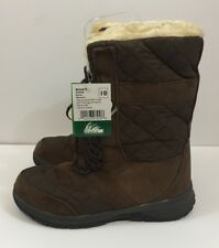 Itasca Boots womens 10 Maggie Water Resist Brown Winter Snow New  suede fleece