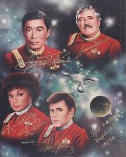 STAR TREK ORIGINAL CAST Signed 10x8 Photo TAKEI, NICHOLS, KOENIG, DOOHAN COA