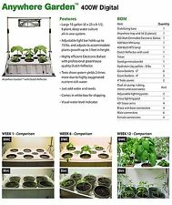 Tucker's Pride Anywhere WEED Garden Kit with Grow Light System 400-watt indoor