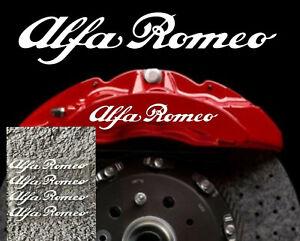 White Alfa Romeo Calliper Stickers Heat Proof Decals  Buy One Set Get One Free
