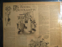 Woman Suffrage Newspaper 1910 THE FLYING SUFFRAGETTE MRS TUPINSKY AVIATION