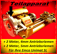 Dividing Attachment, teilapparat, EMCO unimat sl, Lathe Index, watchmakers Lathe