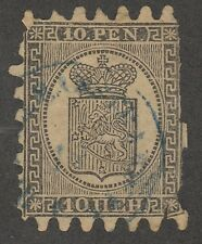 Kappysstamps M80 Finland Sc# 8a Pt-3 Used Faulty Perfs Catalog = $450