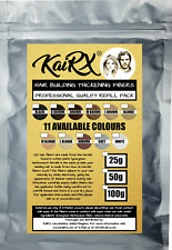 KaiRX Hair Fiber Refill Pack Thickening 25g 50g 100g Concealer 11 COLOURS Fibers