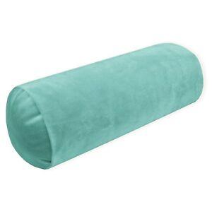 Mf58g Light Turquoise Soft Microfiber Velvet Bolster CASE Neck Roll COVER Size