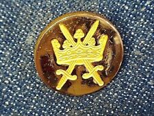 { 6 Rare Vintage Gold Plated Buttons Holland & Sherry Crown & Sward