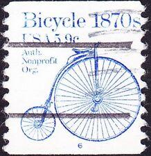 US - 1982 - 5.9 Cents Blue 1870's Bicycle Precancel Coil Single #1901a Plate #6