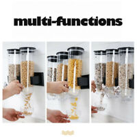 Cereal Dispenser Double Single Dry Food Snack Grain Canister Plastic Storage