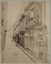 France Architecture médiévale Art gothique Vintage albumine ca 1880
