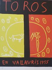 PABLO PICASSO TOROS Poster SIGNED HAND NUMBERED LIMITED EDITION LITHO