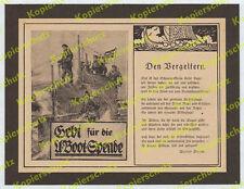 Willy Stöwer Aufruf U-Boot-Spende Kaiserliche Marine Wikinger Walter Bloem 1917