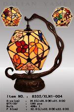 Tiffany Lampe Tiffanylampe Blumen Blüte Schmetterling Dreiecke Laterne  T85S