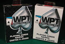 1 World Poker Tour WPT Black & WHITE Cards - 2 Decks Playing Cards Wide