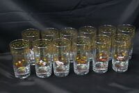 12 Days of Christmas Glasses Tumblers Plus 2 Lot of 14