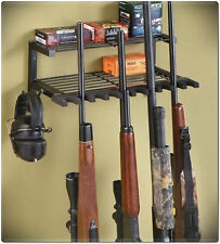 10 Rifle Gun Rack Shotgun Hanger Organizer Wall Mounted Ammo Steel Shelf Hunting