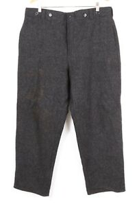 WOOLRICH Charcoal Gray Wool Blend Hunting Pants Mens Size 38