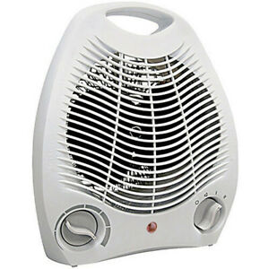 Portable Electric Space Heater 1500w Forced Adjustable Thermostat White