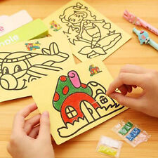 5PCS Hot Kids DIY Colorful Sand Painting Art Creative Drawing Toys for Children