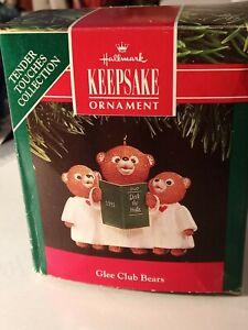 Hallmark Keepsake Ornament 1991 Glee Club Bears ~ New in Box. Box is Damaged