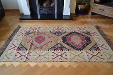 Kilim Rug Indian Jute Wool Hand Knotted Geometric 120x180cm 4x6ft