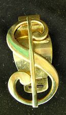 MONEY CLIP *DOLLAR SIGN* by ANSON 12KT GOLD FILLED C.1950'S