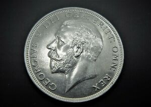 GEORGE V SILVER HALFCROWN  NEAR UNCIRCULATED 1929  / SNIFF'S  ANCIENT COINS T-7