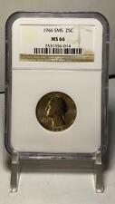 1966 SMS Washington Quarter 25 Cents NGC MS 66