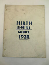 HIRTH ENGINE MODEL 193R SNO JET PARTS LIST