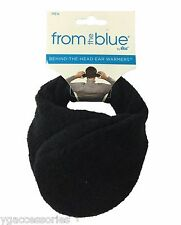 From The Blue By 180s Men Black Adjustable Fleece Ear Warmers Ear Muffs OSFA NWT
