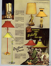 1953 PAPER AD 4 PG Stnola Mid Century Lamp Tele Clock Free Form Drift Wood Floor