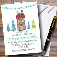 Xmas Dinner & Drinks Personalised Christmas Party Invitations