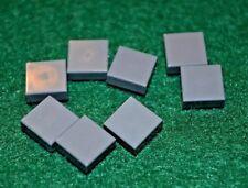 (8) DARK GRAY 1x1 Smooth Finishing Tile Brick Bricks  ~ Lego  ~ NEW